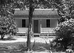 Restored Caymanian Home in monochrome (-j-o-s-e-) Tags: architecture botanic british bwi building caribbean cayman caymanian islands cottage exterior frank historic home sound garden heritage house park porch queen elizabethii rankine verandah sand west