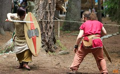 celtic fight (alessyak) Tags: man woman wood forest nature natura italy celt celtic sword fight