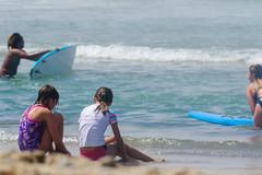 Talking (Kevin MG) Tags: usa ca losangeles malibu zuma zumabeach beach ocean water sand girls adolescent cute pretty little young youth bikini boogieboard