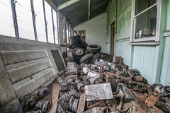 Car Parts Floor! (Voodoooz) Tags: urbex urban explore abandoned drain brisbane city queensland australia tourist water street river house me red blue white tree sky night art light summer old hot sexy babe travel tourer adventure camera building extreme danger photography flashback indoor architecture beam alley texture abstract surreal