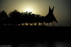Change your thoughts and you change your world... (EHA73) Tags: summiluxm11450asph leica leicamp typ240 kuwait sunset salmiya kuwaitscientificcenter thewalk silhouette goldenhour outdoor seaside palms palmtrees shoreline