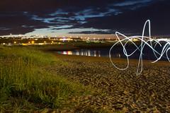 Graffiti (colinmeikle) Tags: light painting aberdeenshire harbour marina boats beach coastal sand amateur
