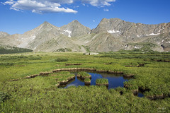 3 Apostles and alpine pools (Aaron Spong Fine Art) Tags: the three apostles sawatch range colorado buena vista leadville