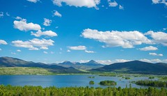 Peace/Love (kirstenscamera) Tags: blue trees sky mountain lake mountains west color water clouds landscape island islands nikon colorado air peaceful peak reservoir co serene range frisco silverthorne dillonreservoir centralcolorado