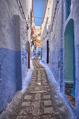 Chefchaouen, Morocco (ott.geoffrey) Tags: chefchaouen morocco alley narrow street blue