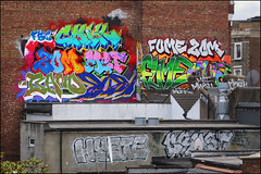 Various... (Alex Ellison) Tags: chik zomby fume band dds mrmet cbm mwa rooftop westlondon urban graffiti graff boobs trackside hyste drost