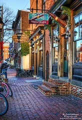 Historic storefront row houses in Fell's Point, Baltimore MD (PhotosToArtByMike) Tags: fellspoint baltimore maryland md fellspointnationalhistoricdistrict southbroadwaystreet historicwaterfront waterfrontcommunity storefronts rowhouses 18thand19thcenturyhomes baltimoreharbor maritime