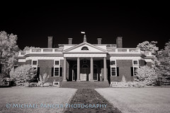 Thomas Jefferson's Monticello in Infrared (Michael Pancier Photography) Tags: michaelapancier michaelpancierphotography travelphotography virginia blackwhite foundingfathers infrared landscapephotography naturephotography unitedstates us monticello thomasjefferson