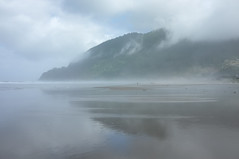 Tide on the ebb (Safdave) Tags: manzanita oregon beach mountain mist