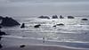 Sunset Walk, Bandon, OR1976 (inkknife_2000 (9 million views)) Tags: bandonor beach pacificocean sunset beachwalking dgrahamphoto america dog walkingonbeach usa landscapes