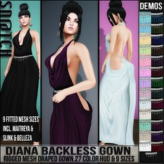 Sn@tch Diana Backless Gown Vendor Ad LG (Tess-Ivey Deschanel) Tags: sntch snatch secondlife sl second style sexy life clothing clothes costumes clubwear casual couture mesh model meshclothing meshclothes models omegasystem outfits omega summer cyberpunk iveydeschanel ivey ihearts specials new newrelease newreleases punk pixels deschanel