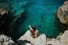 Galebove Stijene. (Je) Tags: sea magic blue deep lightblue views magicplace croatia istria happiness canon 35mm portrait
