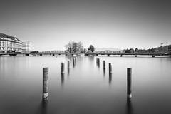 RADE II (Tarik Bouamri) Tags: geneva rade leman lake lac nikon d800 minimalism blackwhite noirblanc longexposure longexposition fineart