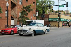 Poise (Flint Foto Factory) Tags: chicago illinois urban city summer august 2016 north lakeview 650 wcornelia cornelia broadway intersection 1956 buick super 2door coupe blue white twotone manufactured flint michigan hometown chrome moving inmotion motion portholes fenders beautiful american classic car generalmotors gm