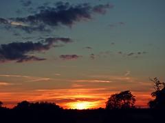 Sunset (ElDel777) Tags: sunset sundown clouds beautifulsky eveningsky dusk summer redskyatnight redsky sky fluffyclouds
