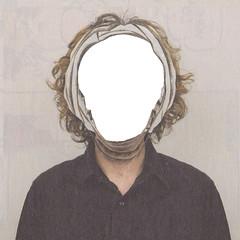 Agujero de gusanos (marlenevanesaromero) Tags: portrait blanco collage retrato agujero cara marlene wormhole romero hombre hueco tijeras capas recortes