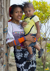 Panama, San Blas Islands, Mamitupu, Portrait Of Kuna Tribe Mother Holding Her Baby (Eric Lafforgue) Tags: portrait people baby color latinamerica vertical ink outdoors photography necklace clothing community women day child adult native indian traditional culture jewelry tribal jewellery bead panama tribe ethnic youngster cultures vacations 2people twopeople beaded adultsonly kuna mola archipelago indigenous centralamerica customs ethnicity panamanian lifestyles headwear ecotourism ethnology indigenouspeople latinamerican cuna guna traditionalclothing traveldestinations lookingatcamera kunayala kunas sanblasislands bodyadornment mamitupu embroideredtextile kunatribe panama575