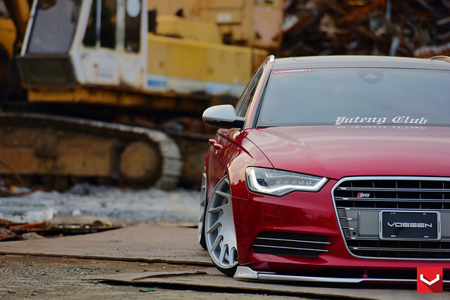 audi s6 vle1 silverpolished ©vossenwheels