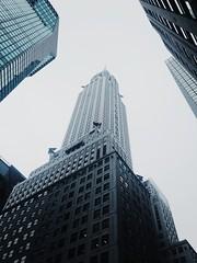 Chrysler Building, New York (Laurence Viguie) Tags: nyc newyorkcity blackandwhite newyork monochrome skyscraper manhattan chrysler iphone