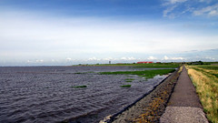 Friedrichskoog, North Sea, Germany (DiSorDerINaMirrOR) Tags: travel sea sky holiday green tourism nature water beauty germany landscape coast north nordsee friedrichskoog