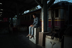 * (Sakulchai Sikitikul) Tags: street train thailand sony flash voigtlander 28mm streetphotography snap songkhla hatyai a7s