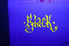 caligrafa fluorescente /1 (angie.qs) Tags: light black letters calligraphy blackletter letras caligrafia caligrafa handletter gothicletters customletters