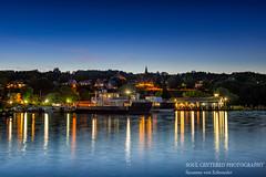 Bayfield at night (susannevonschroeder) Tags: lakesuperior boat longexposure night summer wisconsin bayfield light city harbor ferry madelineisland