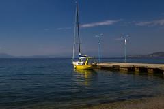Volos sailboat (Eileen NDG) Tags: greece gulfofpagasitikos volos sailboat pelion yellow