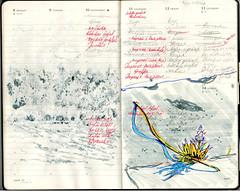 sketches in the moleskine organizer (Alisher Aloev) Tags: moleskine plain air landscape people plants