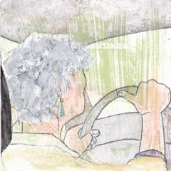 # 205 (23-07-2016) (h e r m a n) Tags: herman illustratie tekening bock oosterhout zwembad 10x10cm 3651tekenevent tegeltje drawing illustration karton carton cardboard ca auto chauffeur driver stuur car