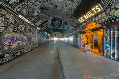 Leak Street Graffiti (scarlet-pimp) Tags: timeoutlondon canon5d streetart england london thevaults tunnel holyzabou londonist railwayarch graffiti waterloo leakestreet longexposure nopeople zabou