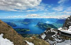 Vierwaldstttersee (welenna) Tags: alpen alps switzerland snow schnee schwitzerland spring see sky swiss berge blue mountains mountain view landscape lake light vierwaldstttersee pilatus