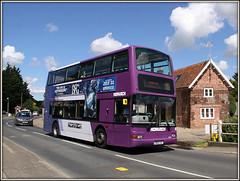 33152, Mulbarton (Jason 87030) Tags: road camera bus work flickr village purple tag president transport july first norwich 37 dennis doubledecker purpleline trident bfg 2016 plaxton easterncounties hellesdon 33152 mulbarton lr02lxl