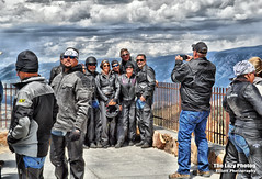 July 16 2016 - Bikers posing high above on Chief Josepy Pass (lazy_photog) Tags: red beautiful photography scenery rally run lodge poker lazy motorcycle elliott photog beartooth 071616beartoothandredlodge
