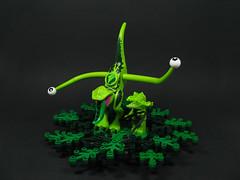 The Gurkle in the Circle (Karf Oohlu) Tags: lego moc minifig fantasy horror absurd gurkle eyeball tentacle