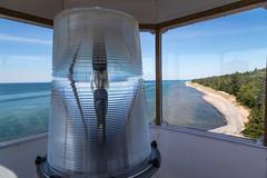 Crisp Point Lighthouse lamp (JGKphotos) Tags: 6d canoneos6d crisppointlighthouse michigan upperpeninsula