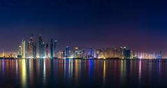 Dubai Marina Skyline (Muhammad Al-Qatam) Tags: nikon d810 malqatam alqatam muhammadalqatam dubai emirates uae travel skyline skyscraper reflection long exposure clear