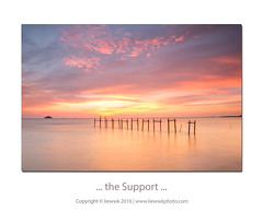 ... the Support ... (liewwk - www.liewwkphoto.com) Tags: sunset landscape malaysia pantai jeram selangor 夕阳 rgnd liewwk liewwknature liewwkphotohunters 反漸變灰