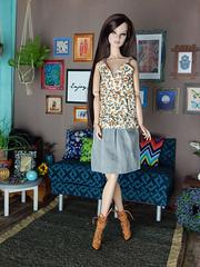 """Flower Field"" - Summer Days continued... : ) (Levitation_inc.) Tags: ooak fashion doll dolls royalty fr2 integrity poppy parker handmade clothes levitation"