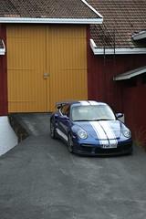 "997 turbo - 025 (Erkka Suominen) Tags: ""cobalt blau porsche"" blue ""bridge gantry"" nürburgring ""porsche 911 turbo"" ""911 ""997 ""pwr700"" ""evoms evt775"" ""evt775"" ""nürburgring bridge pccb"