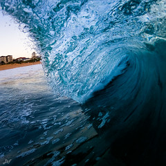 Jelly for Breakfast (David Field (Sydney)) Tags: ocean morning blue winter sea vortex beach nature water sport breakfast contrast sunrise canon surf moody power tube barrel sydney wave australia newsouthwales jelly heavy northernbeaches aquatech