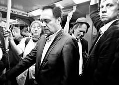 Good Morning Subway Strangers (Thomas Renken) Tags: subway blackandwhite streetphotography frankfurt