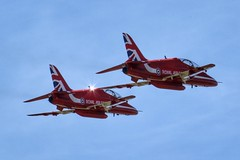 The Red Arrows (Yours Behaviourally) Tags: nickfewings hawk unionjack aerobatics display raf royalairforce aeroplanes planes redarrows red