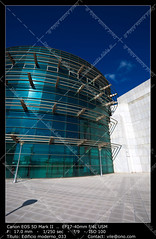 Office buildings (__Viledevil__) Tags: architectural feature styles architecture blue building exterior built structure business city life cloud colors day descriptive color downtown district europe facade financial glass metal modern office outdoors reflection silver sky steel turquoise urban scene window cdiz espaa