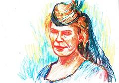 OJOS CERRADOS, PENSAMIENTO INTERIOR (GARGABLE) Tags: portrait retrato sketch drawings dibujos colores cartulinas gargable angelbeltrn apuntes ojos gente