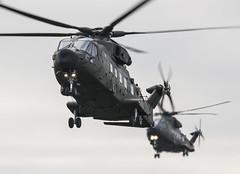 Keevil Airfield - AgustaWestland EH101 Merlin HC3 - Royal Air Force - ZJ998 / AE & ZJ995 / AD (lynothehammer1978) Tags: keevilairfield royalairforce raf zj998 zj995 zj998ae zj995ad agustawestlandeh101merlinhc3 exercisejointwarrior
