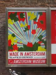 Made in Amsterdam (streamer020nl) Tags: amsterdam 2016 260716 holland nederland paysbas niederlande netherlands centrum citycentre poster affiche plakat museum 100 years artists
