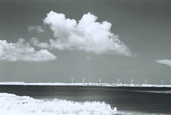 Penghu Infrared-9 (bluetrayne) Tags: infraredphotography infrared infraredfilm blackandwhitephotography landscape landcapephotography analogphotography taiwan penghu clouds