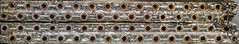 Evaporator Coil (cross-section) (Paul B0udreau) Tags: panoramic hugin tiff canada ontario paulboudreauphotography niagara d5100 nikon nikond5100 nikkor70300mm airconditioner crosssection metal brass photoshopcc raw explore