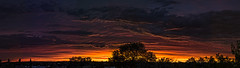 excessively slud sunset panorama 13Aug16 (johngpt) Tags: 8shotportraitpanorama fujifilmxt1 fujinonxf55200mmf3548rlmois nikviveza clouds fromtheroof handblended silhouette sunset trees sliderssunday hss